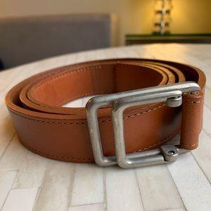 Park & Ronen Tan Leather Belt Sz 36 - fits 32-36
